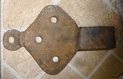 Ancient Roman Forged Iron Hardware Fixture prev owner: Dmitri Hadzi 8 in long