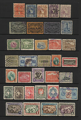 Guatamala Collection 34 Early Stamps Used
