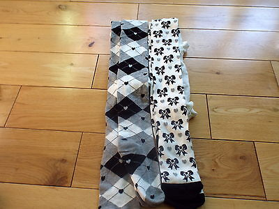 BRAND NEW PRIMARK Patterned Tights (2 Pairs) - Age 11-12 Years