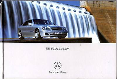 Mercedes S-Class Saloon 82 page 2004 Sales Brochure Hard Cover Book NOS