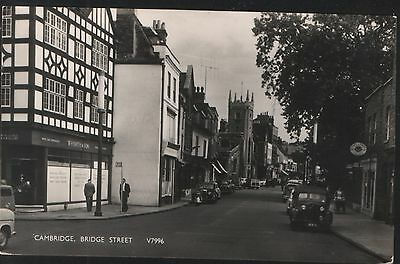 Postcard - View in Bridge Street, Cambridge, posted 1958 and in good condition.
