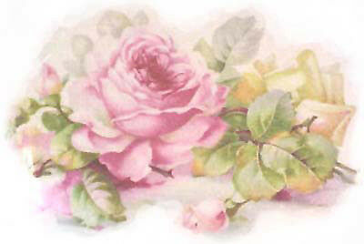 AmaZinG SoFT MuTeD BaVaRiaN RoSeS ShaBby WaTerSLiDe DeCALs ~FuRNiTuRe Size~