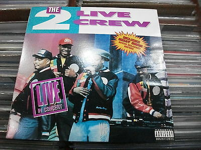 THE 2 Live Crew ‎– Live In Concert  ' LP'' MINT 1990