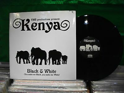 Kenya ‎– Black & White  ' 12'' MINT