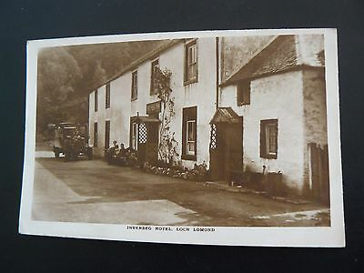 Inverbeg Hotel Loch Lomond Real Photo RP Postcard showing Lorry