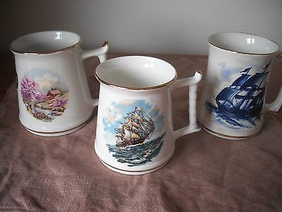 3 Masonic Mugs From Prestwich,Penda & Mid Cheshire Lodges