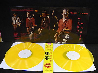 The Clash – Take Tokyo - JAPAN 1982 ' 2 X LP MINT YELLOW LIMITED TO 100
