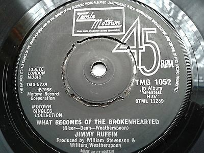 """Jimmy Ruffin - What Becomes of the Broken Hearted 7"""" single VG"""