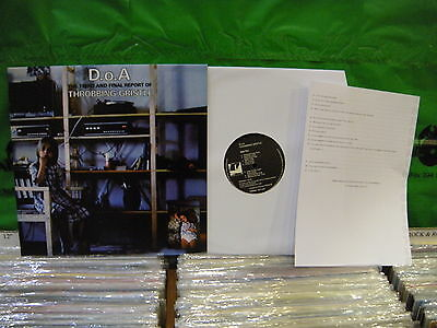 Throbbing Gristle ‎– D.o.A. The Third And Final Report ' LP MINT