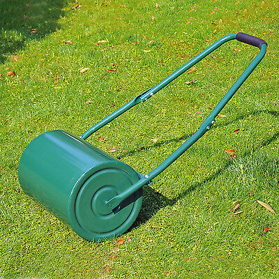 Outsunny Lawn Roller Large Heavy Duty Metal Sand or Water Filled Garden Outdoor