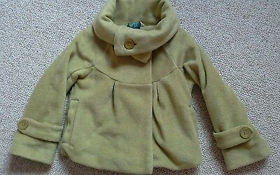 Girls Next Pale Green lined cosy fleece Jacket age 6 excellent  condition