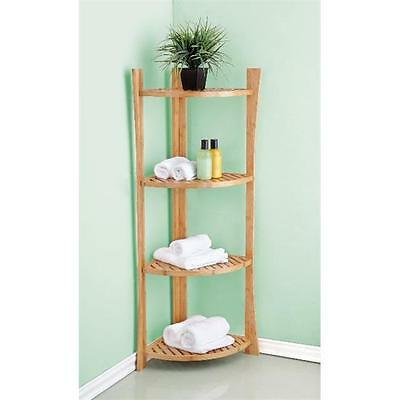 Best Living BB100315 Bamboo 4-Tier Corner Shelf
