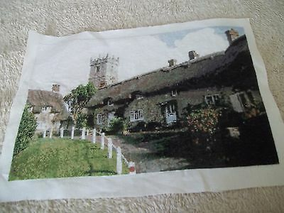 completed church/cottages cross stitch