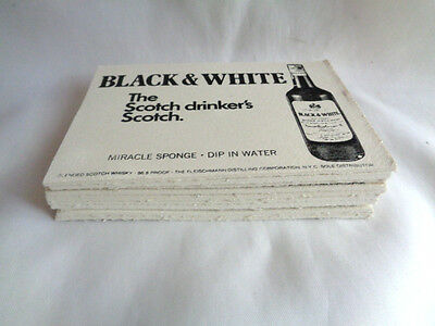 Black & White Scotch Whisky-10 Pc Old/new  Sponges- Unused-Scotty