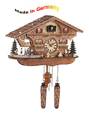 Quartz Cuckoo Clock Classic,Black Forest,Spinning Dancer,Made in Germany