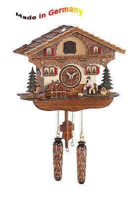 Quartz Cuckoo Clock Classic,Black Forest,Portable Holzhacker,Made in Germany