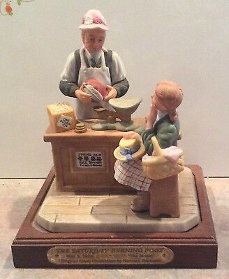 Norman Rockwell THE MODEL on Base Ltd Ed - Classic Kids Collection