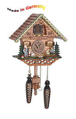 Quartz Cuckoo Clock Classic, Black Forest, Heidi, Made in Germany, Gift Idea