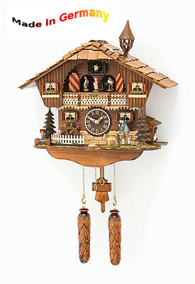 Black Forest Cuckoo Clock, Wood, Moving Figures, Made in Germany, Gift