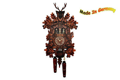 Black forest Cuckoo clock, Spinning Dancer, Music, Hirsch, 2015, Made in Germany