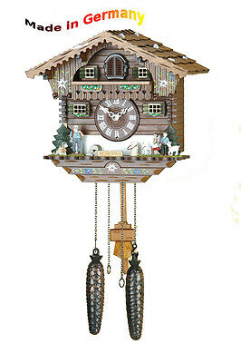 Quartz Cuckoo Clock, Black Forest, Night-Time Shut-Off, Handpainted, Heidi