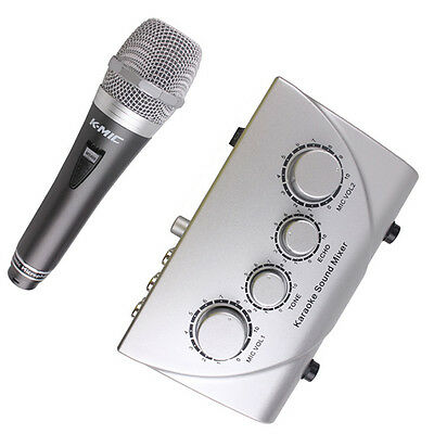 Karaoke Sound Mixer Kit With KM700 Microphone For Music KTV PC Record Chat
