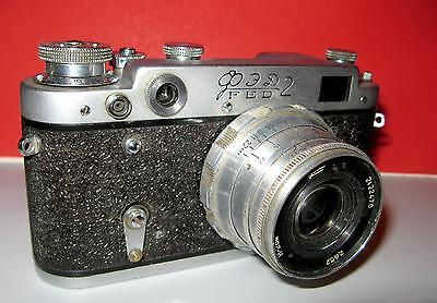 FED-2 vintage russian Leica copy camera with lens Ind-26 m RARE