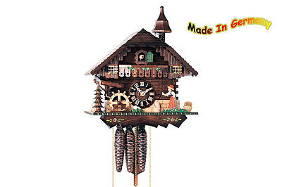 Cuckoo Clock 1-day - Movement Music Black Forest Woman Rings the Bell Spinning