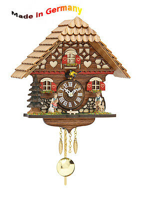 Quartz Black  forest Pendulum clock with Cuckoo, Made in Germany, Gift idea