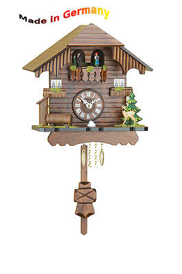 Pendulum Clock Black Forest, with Rotating Dancers, Made in Germany, Gift Idea