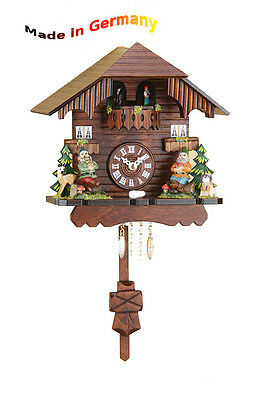 Pendulum Clock with Rotating Dancers, Made in Germany, Black Forest, Gift Idea