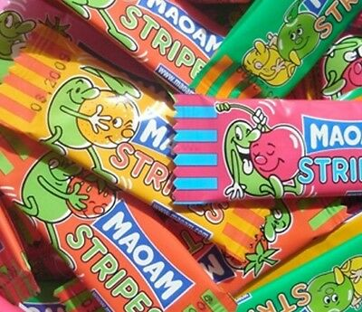 Haribo Maoam Stripes Fruit Chews Kids Pick N Mix Or Tub Party Retro Sweets