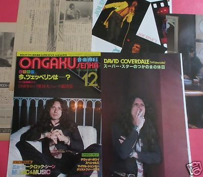 Whitesnake David Coverdale Journey Steve Perry 1980 Clippings Os 12A 10Page