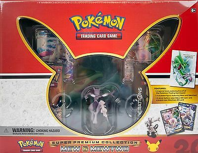 2016 Pokemon Trading Card Game Super Premium Collection Mew & Mewtwo Sealed