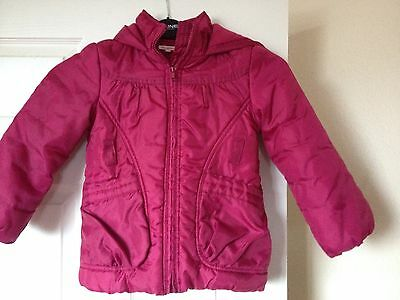 girls Coat Size 5-6 Years Quilted  Debenhams  Cerise Pink padded comfortable