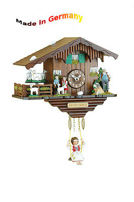 Black Forest Quartz Watch Cuckoo Swing Clock Cuckoo Call, Made in Germany, Gift