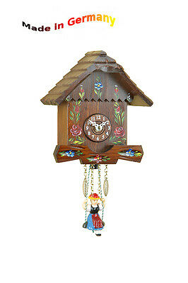Miniature Rocking Clock,nut,Quarz- or Spring movement,Made in Germany,