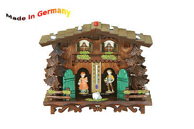 Weather-House,Figures Show Weather,Wooden Figures,Made in Germany,Black Forest