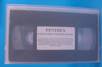 Vt538 Vhs Tape Pentrex Railroading With Rio Grande  D&rgw