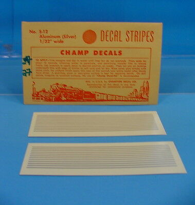"""B27 All Scales Champ Decals S-12 Aluminum Silver Decal Stripes 1/32"""" Wide"""