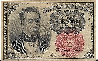 Usa=Fractional Currency=1874   10  Cents   Unc