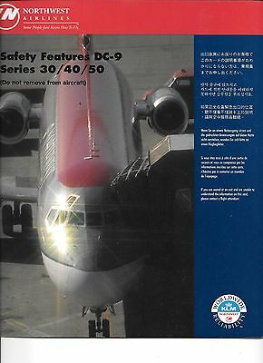 Northwest Airlines DC-9 Series 30/40/50 Safety Card (10/96)