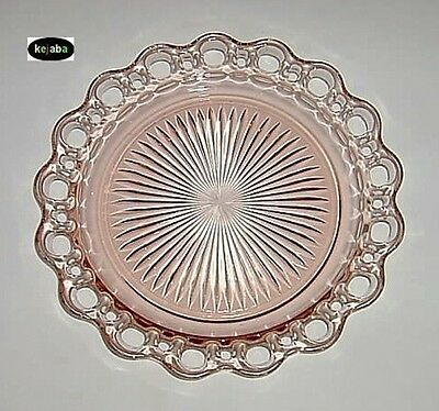 Old Colony Pink Plate 10 1/2 in. Dinner Hocking