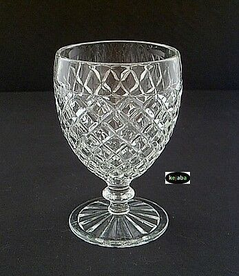"Waterford Waffle Crystal Goblet 5 1/4"" Hocking"