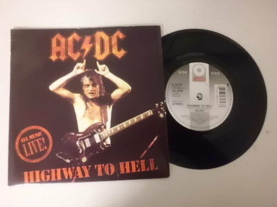 """Ac Dc 7"""" Single P/s * Highway To Hell / Hells Bells *"""