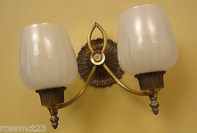 Vintage Sconces matched pair circa 1965 Hollywood Regency by Lightolier