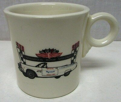 Vintage 1965 Plymouth Indianapolis 500 Official Pace Car Coffee Cup Sport Fury