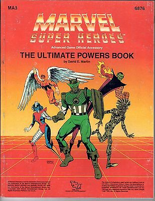 1987 TSR Marvel Super Heroes RPG The Ultimate Powers Book MA3