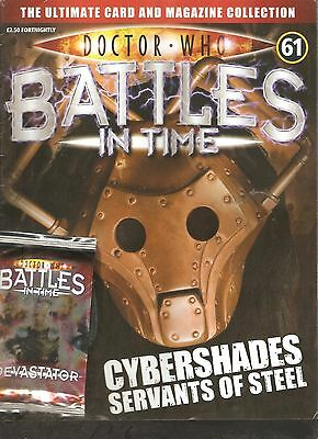 Rare! Doctor Who Battles In Time #61: Cybershades + 2 Packs Of Trading Cards