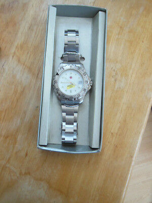 VINTAGE EARLY 1990s HOLSTEN PILS BRUSHED STAINLESS STEEL MENS SWEDA PROMO  WATCH